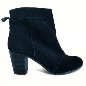 Toms Heeled Boot Zipper Sides Size 10
